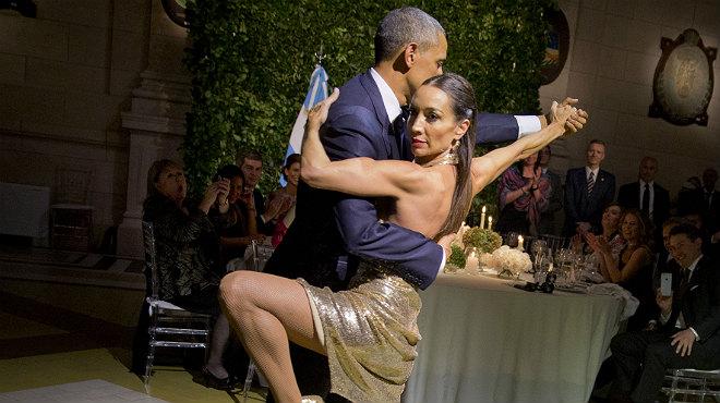 visita del Presidente Obama a Argentina y baila tango
