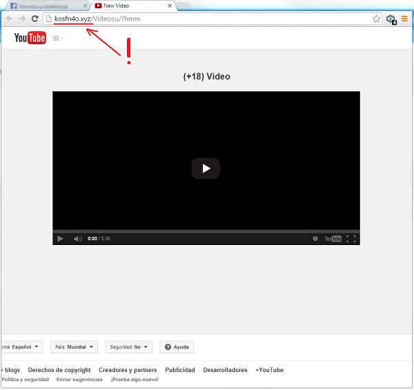 Vídeo porno falso YouTube