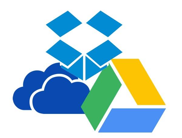 One Drive Google Drive Dropbox