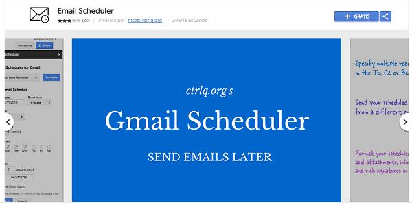 email scheduler gmail