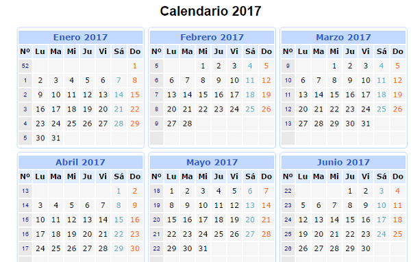 Calendario Para Escribir.Calendario Mensual 2017 Mas De 150 Plantillas Para Imprimir Y