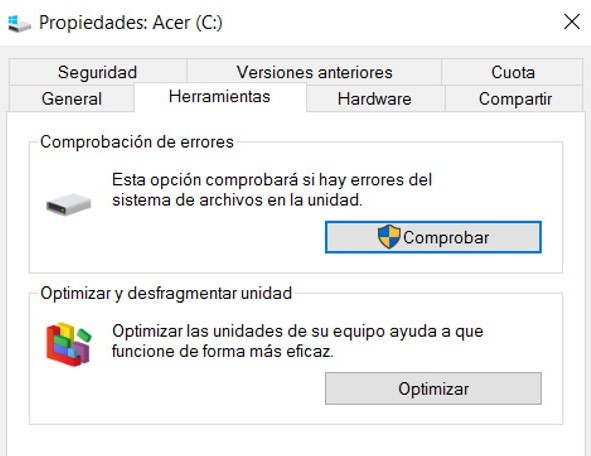 desfragmentar windows 10