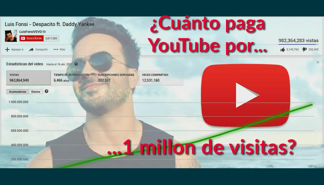 Cuánto Paga Youtube Por 1 Millón De Visitas En 2019 Notas Del Quijote