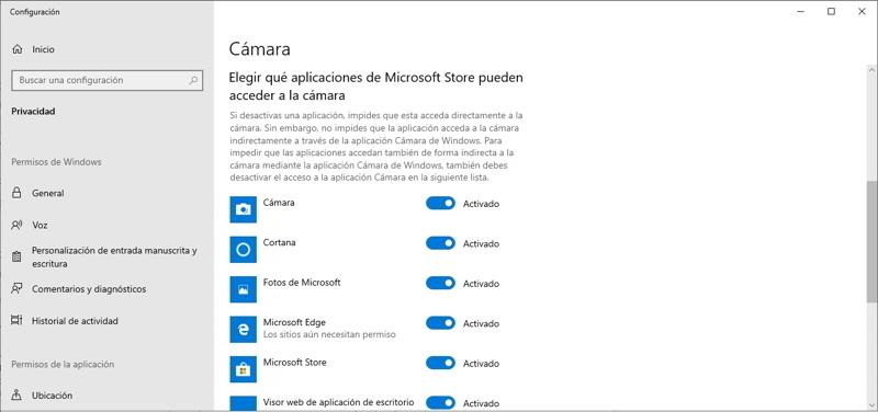 activar webcam windows 10 3