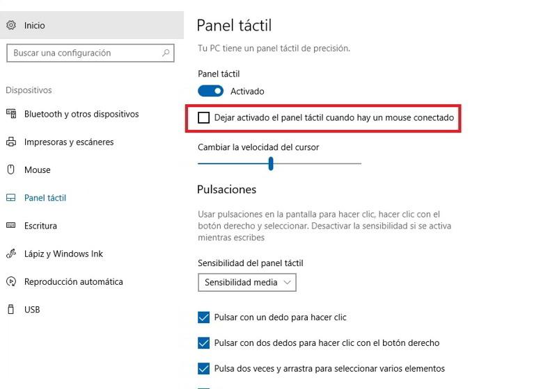 desactivar el touchpad del portatil al conectar un raton 2