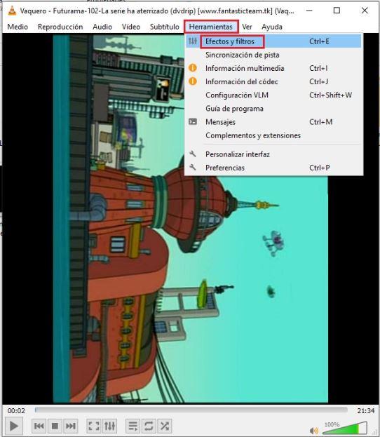 como rotar un video con VLC en Windows 2