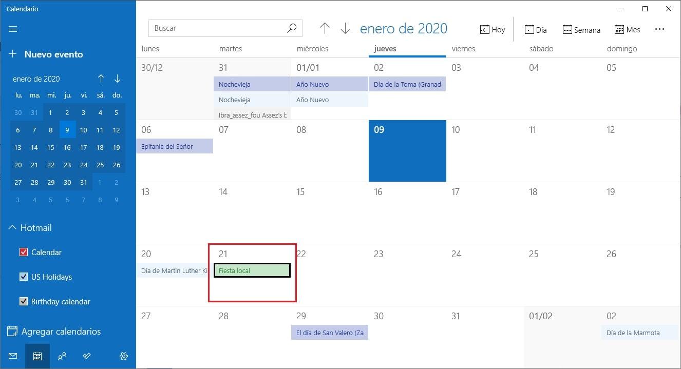 Cómo combinar Google Calendar con la app Calendario de Windows 10 10