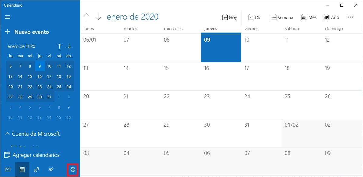 combinar Google Calendar con la app Calendario de Windows 10 1