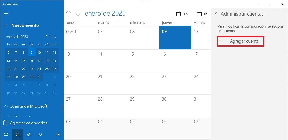 Cómo combinar Google Calendar con la app Calendario de Windows 10 1