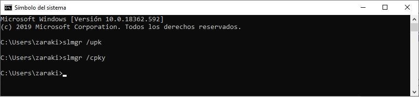 desactivar licencia windows 10