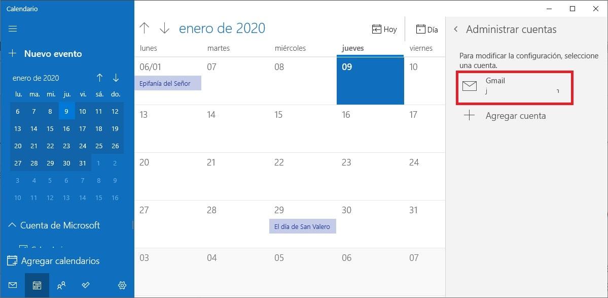 Cómo combinar Google Calendar con la app Calendario de Windows 10 6
