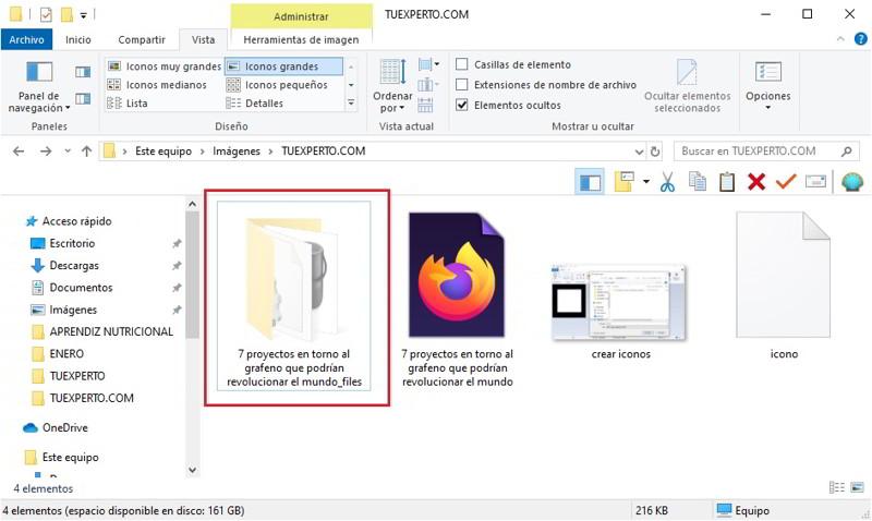 Cómo ocultar archivos y carpetas en Windows 10 5