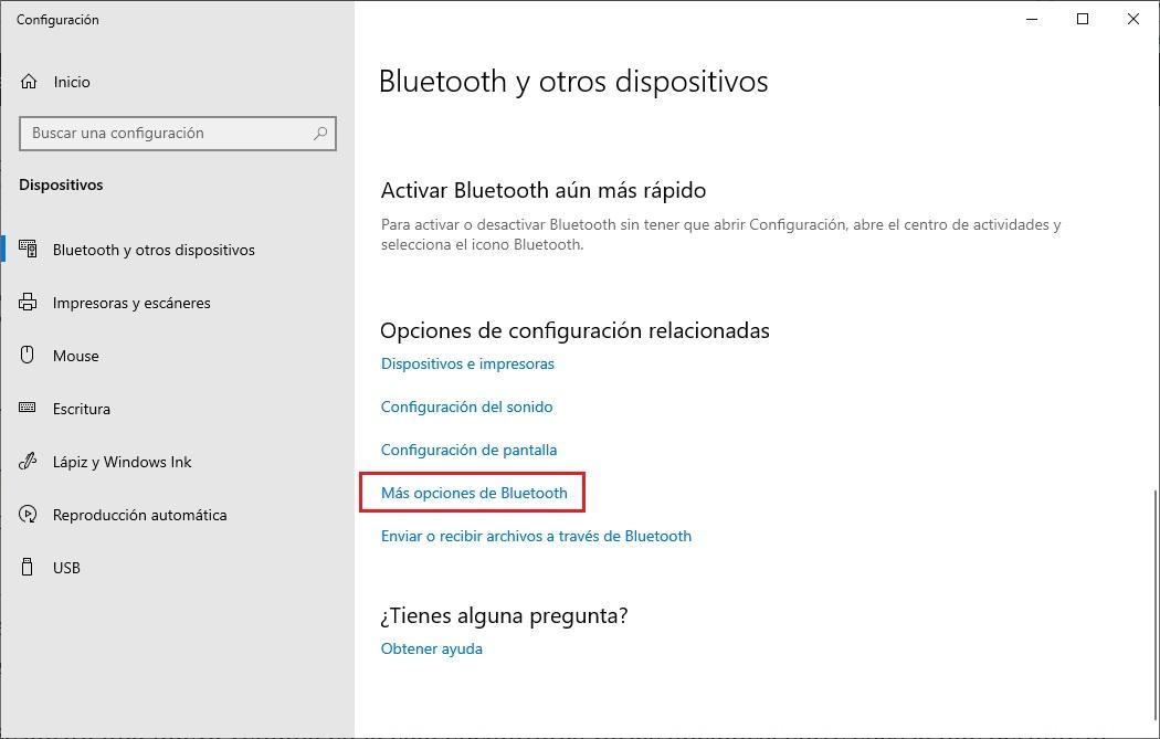 Permite que los dispositivos Bluetooth encuentren tu PC 1