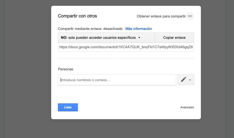 Compartir Google docs