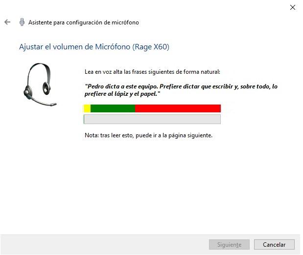 configurar y usar el reconocimiento de voz en Windows 10 4