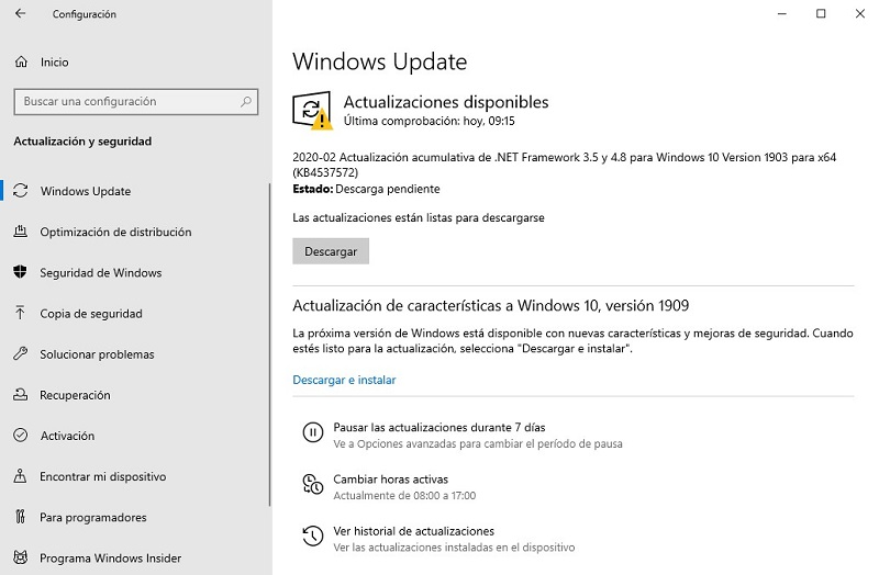 Actualiza Windows 10 y el software