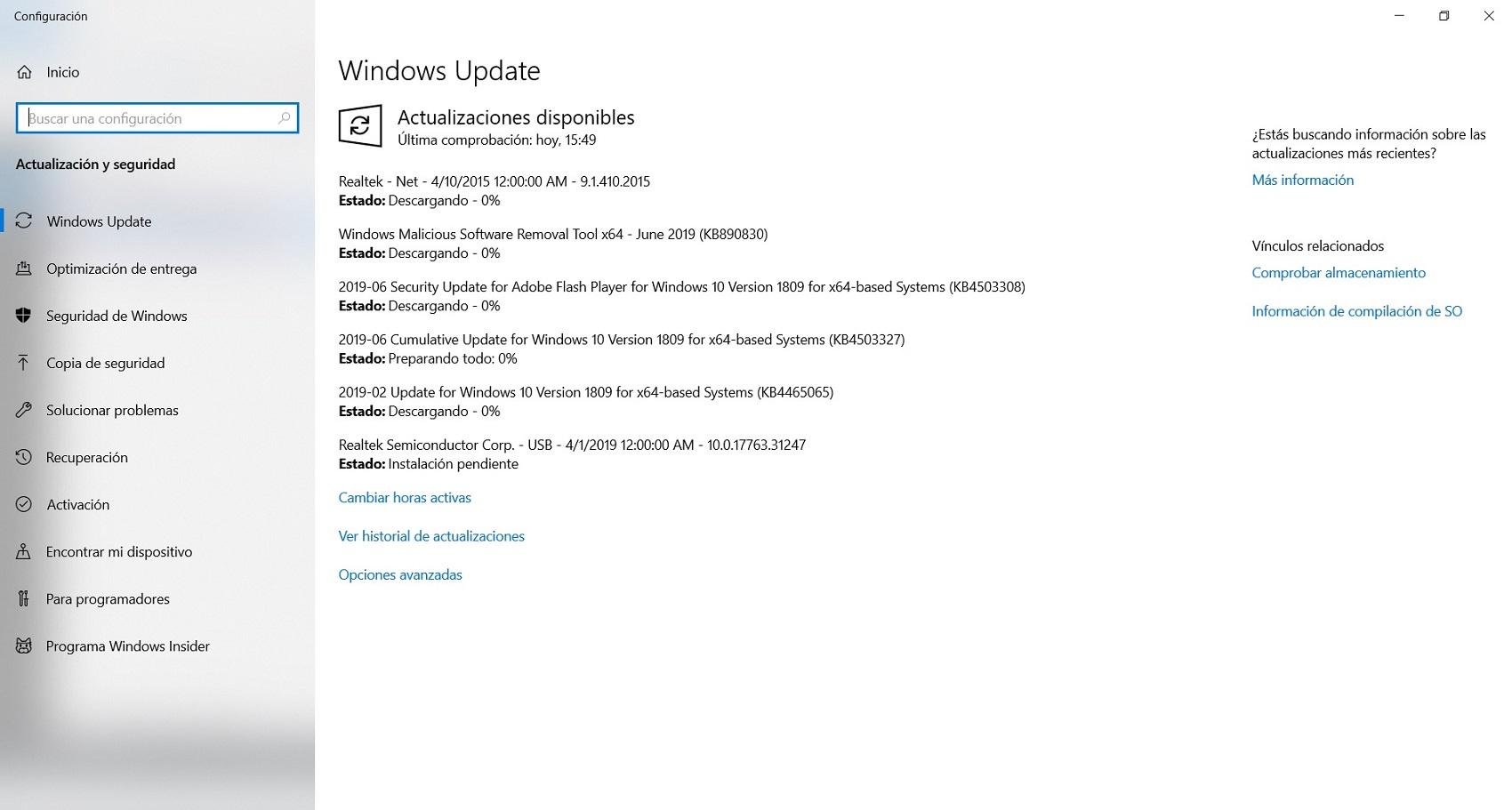 Actualizar drivers de la placa base con Windows Update 2