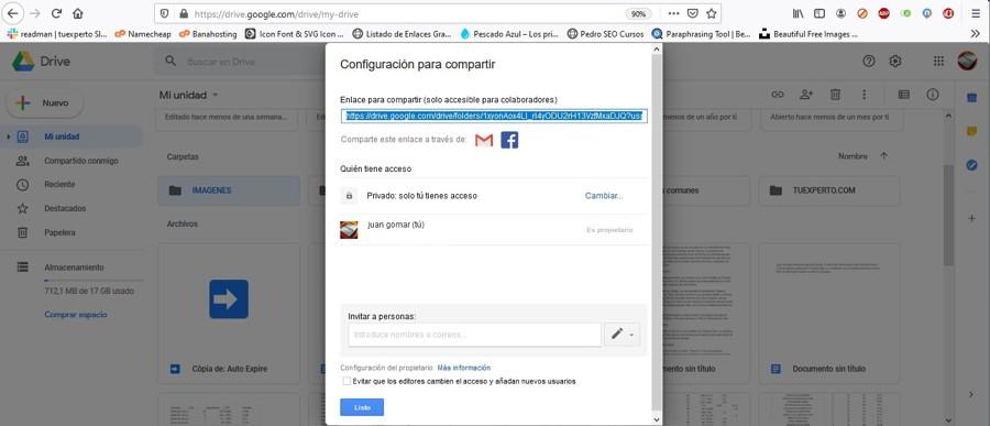 Cómo usar Google Drive para compartir archivos y carpetas estos días 4