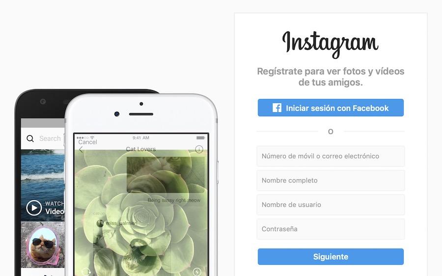 iniciar sesion instagram ordenador