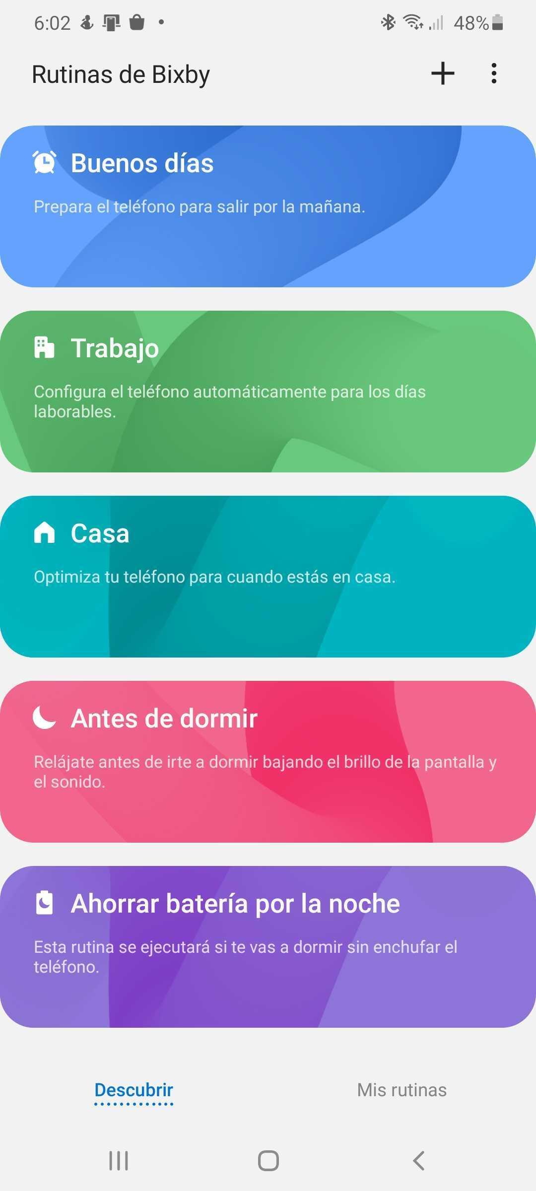 rutinas de bixby