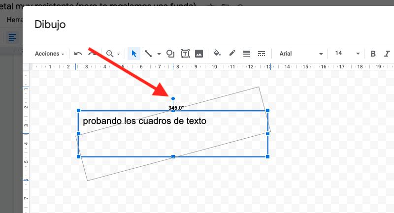 trucos texto google docs tachado vertical rotar formato 6