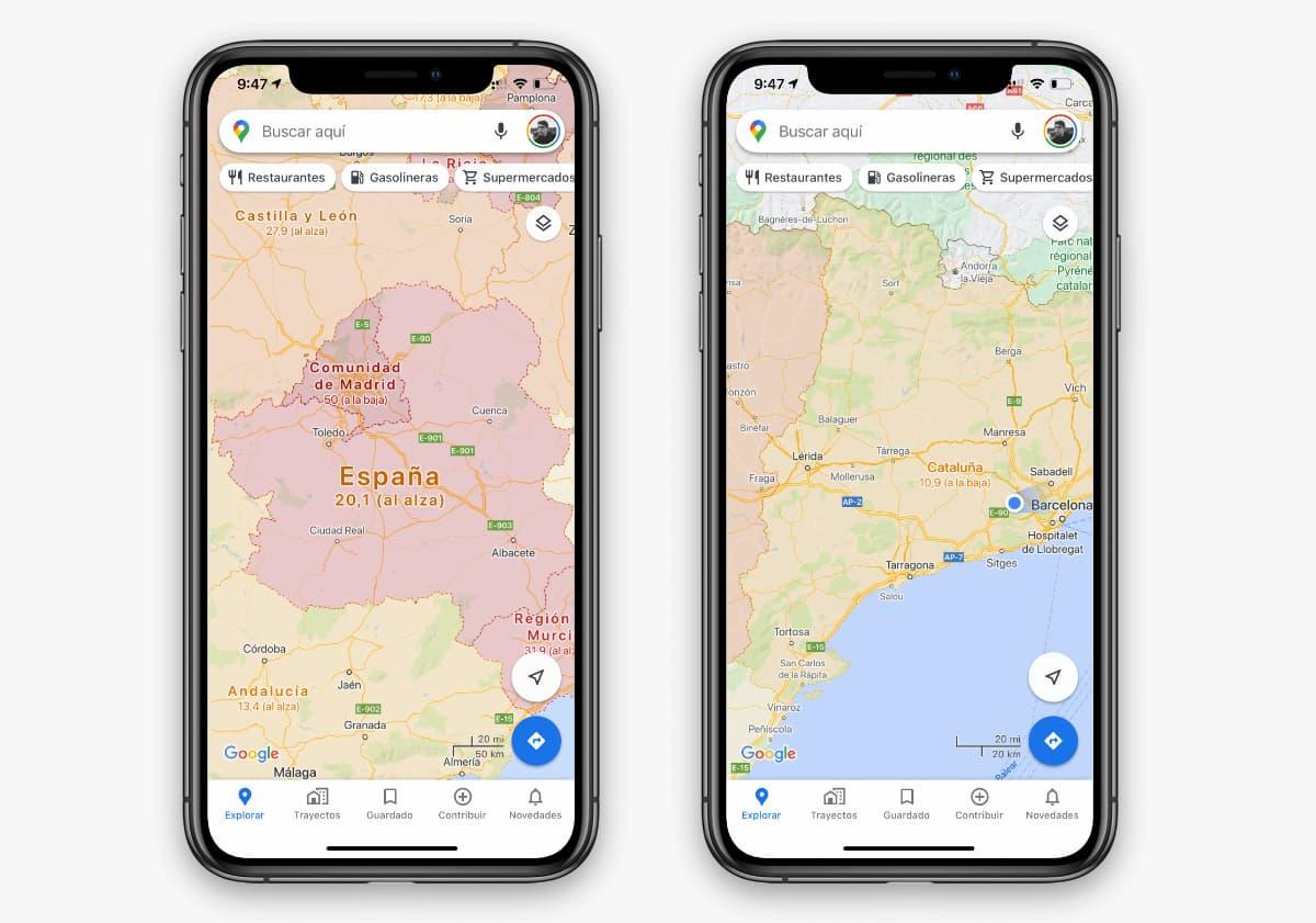 Cómo configurar y usar la capa para ver la incidencia de COVID en Google Maps