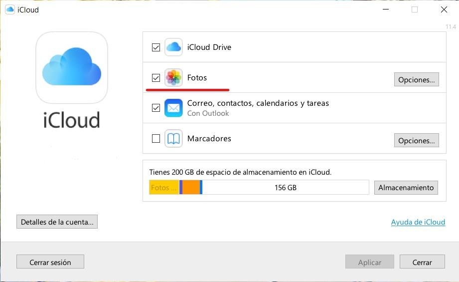 Cómo configurar Fotos de iCloud en Windows