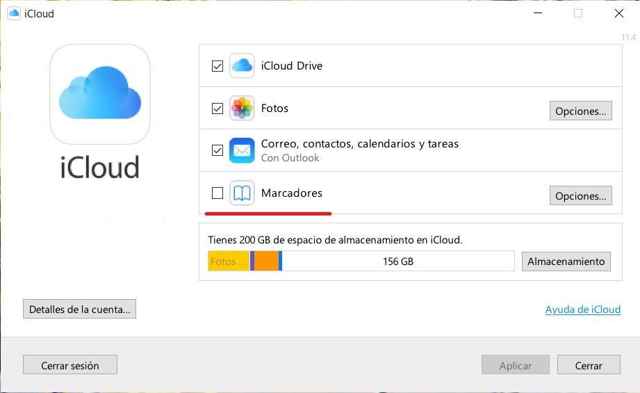 Cómo sincronizar los marcadores de iCloud en Windows