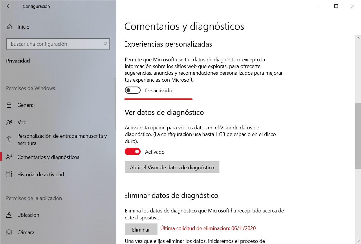 Cómo configurar los ajustes de privacidad en Windows 10 para que te espíen lo mínimo 2