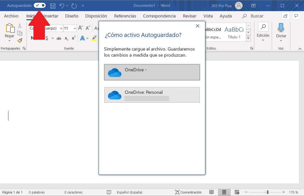 Cómo activar el autoguardado de Word, Excel y PowerPoint 2