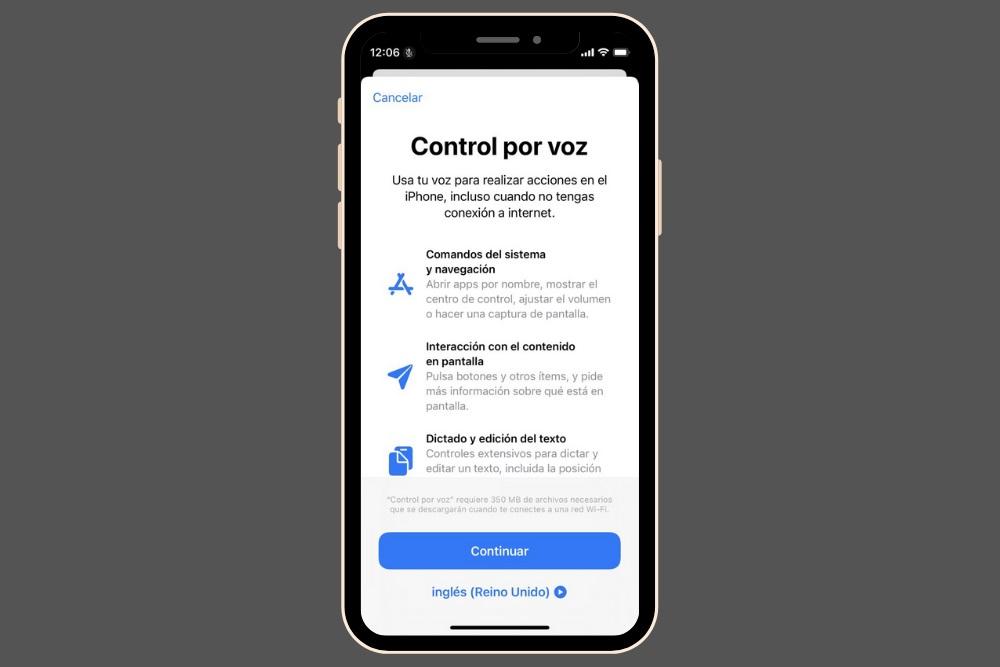 Control por voz en iOS 14