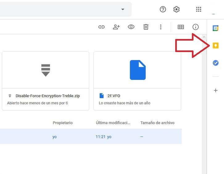 Abrir otras aplicaciones de Google