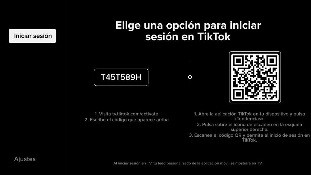 Iniciar sesión en TikTok en el Fire TV