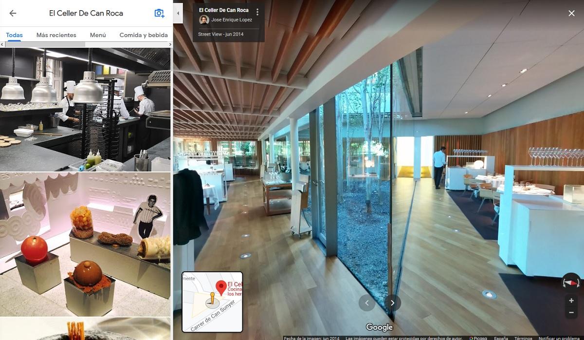 Street View dentro de un negocio