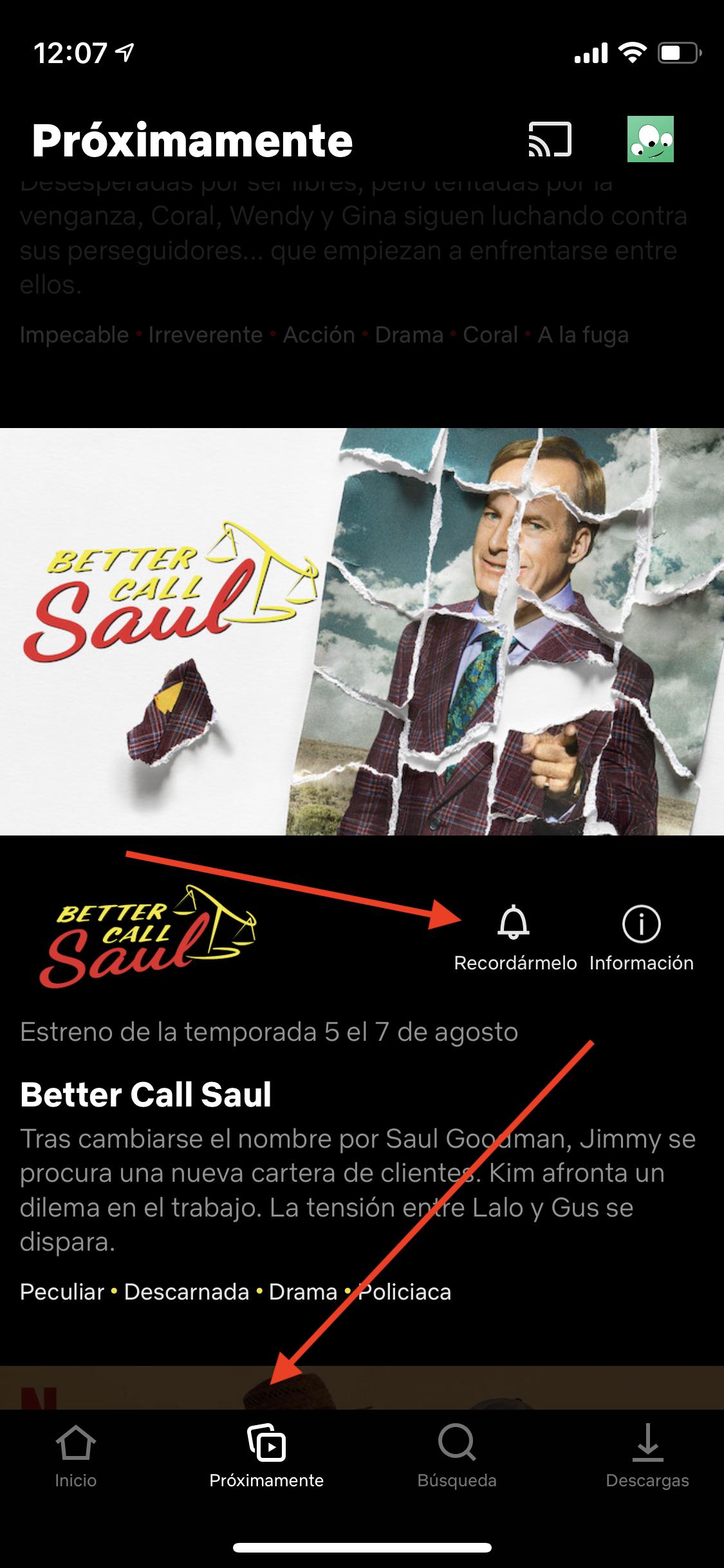1 Ver las noevedades de Netflix