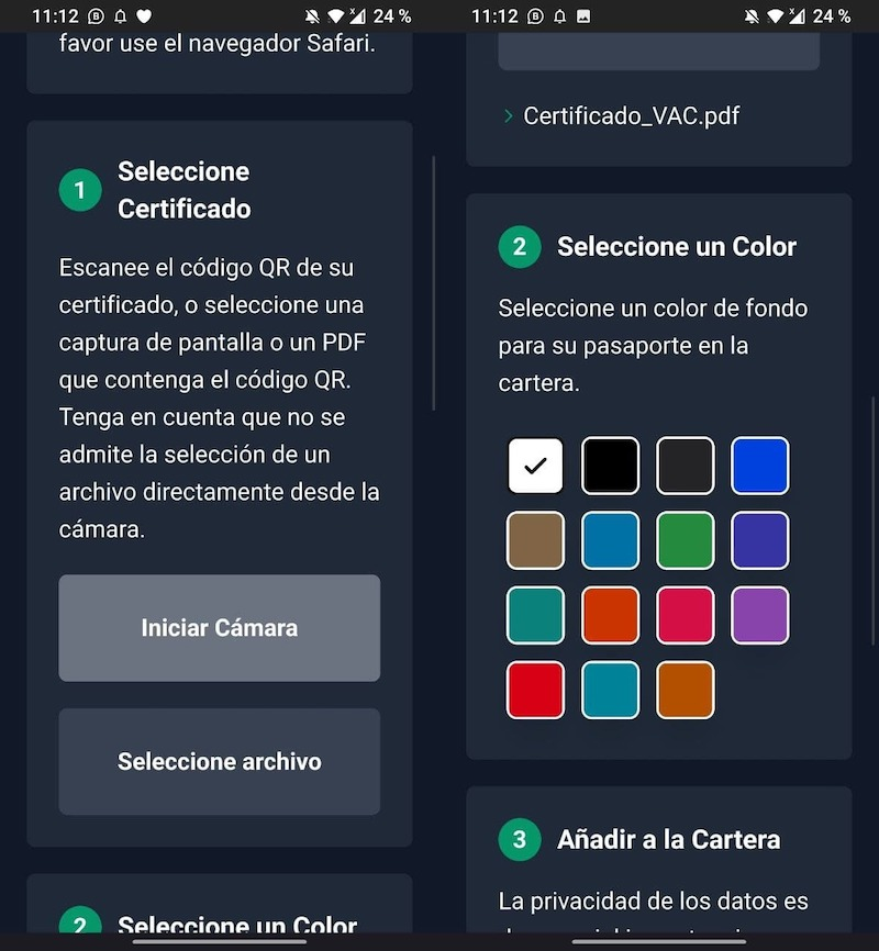 certificado covid android pay 1