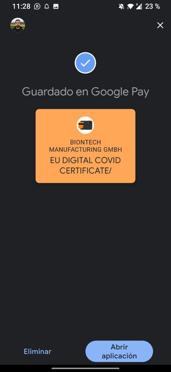 certificado covid android pay 2021 0